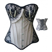 Satin Spinning Mold Push Up Corset Beige