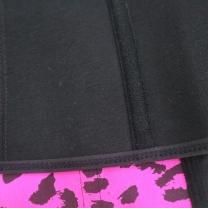 7963dd7595 ...  8801 Womens Sport Latex Waist Trainer Cincher Corset Shapewear Leopard  Print—Rose Red